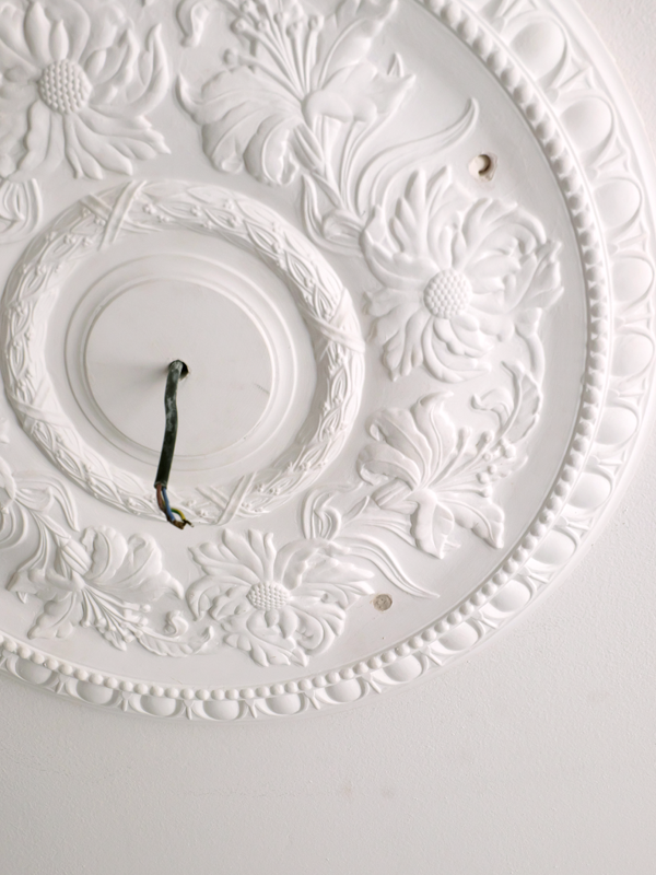 Installing a plaster ceiling medallion   Hello Victoria
