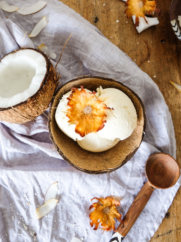 No-churn pina colada ice cream | Hello Victoria