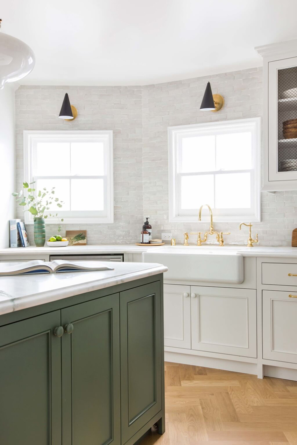 Emily Henderson's kitchen with textured tiles | Hello Victoria