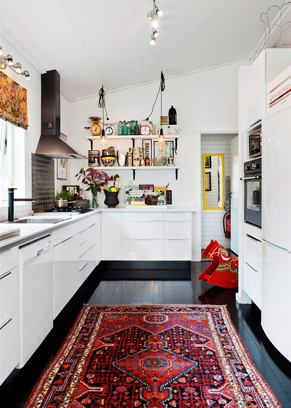 Vintage rugs in the kitchen | Hello Victoria